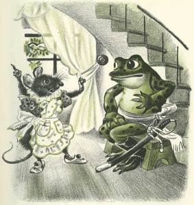 Feodor Rojankovsky, Frog Went A-Courtin, winner of 1955 Caldecott Medal for Best Children's Picture Book. Source: animationresources.org