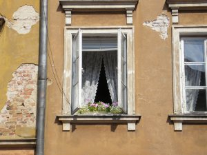 A Warsaw window, summer 2005